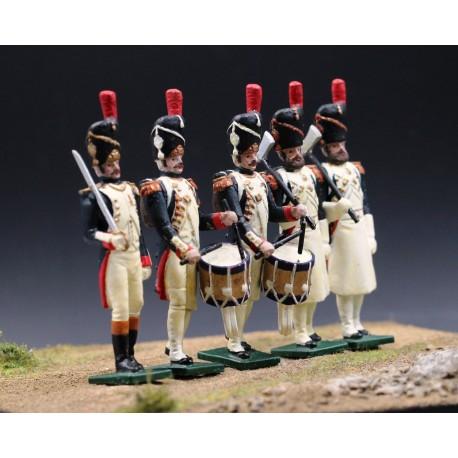 5 grenadiers à pied de la garde impériale Française