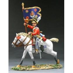 Porte-guidon des Scots Greys, 2 nd North british dragoons, Waterloo 1815