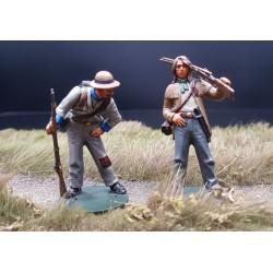 """2 tireurs d'élite, armée confédérée, """"sudistes"""", 1861-1865"""
