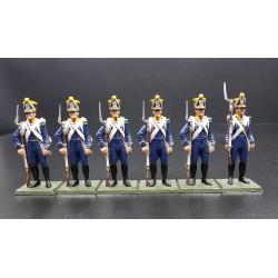 6 chasseurs d'un régiment d'infanterie légère Français, 1803-1815