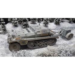 Véhicule blindé semi-chenillé Allemand Sdkfz 252, Wehrmacht, camouflage hiver