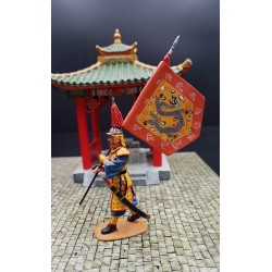 Porte-drapeau impérial Chinois, en marche, Chine impériale
