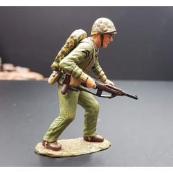 US marine au combat, IWO JIMA, PACIFIQUE 1945