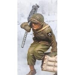 Soldat Américain avec mitrailleuse, 2e division d'infanterie, Ardennes hiver 1944-1945