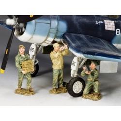 3 mécaniciens au sol des US Marines, Pacifique 1941-1945