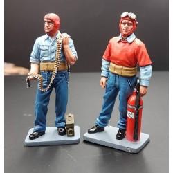 Pompier et mécanicien de pont, porte-avions Américain, 1939-1945