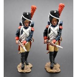Grenadier à pied, garde impériale Française, en progression, 1804-1815
