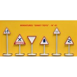 ATLAS DINKY TOYS Panneaux de signalisation n°41