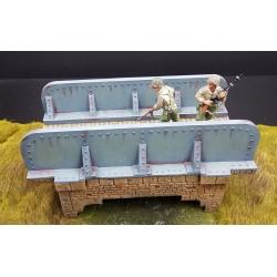 Décors-dioramas, pont métallique