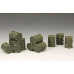 Ensemble de fûts d'essence militaire WW2, pour diorama, décor