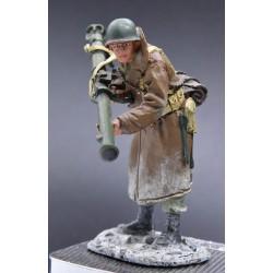 tireur au bazooka, infanterie Américaine, hiver 1944-1945, Ardennes Bastogne