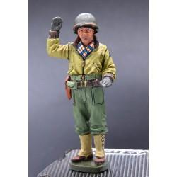Sous-officier division blindée Américaine, Ardennes-Bastogne, hiver 1944-45