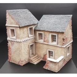 Décor pour diorama, Maison Normande endommagée, EN KIT