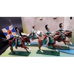 4 dragons impériaux Russes à la charge, 1812 Borodino