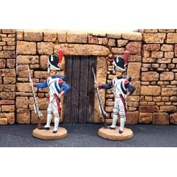 2 grenadiers à pied de la garde impériale Française, 1804-1815