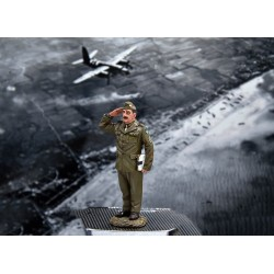 Sous-officier Américain, chef d'équipe de mécaniciens au sol, USAAF, 1941-1945